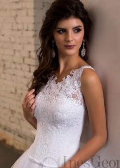 Exkluzívne čipkované spoločenské šaty SPL1560