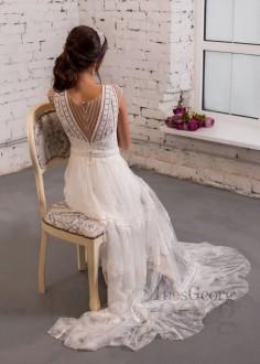 Luxusné čipkované spoločenské šaty SPL1577