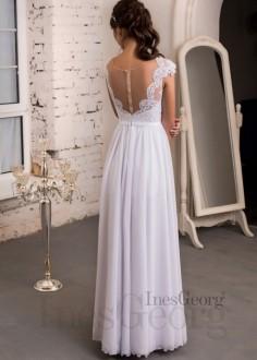 Extravagantné celokrajkové spoločenské šaty SPL1591