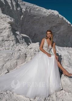 Luxusné celokrajkové spoločenské šaty SPL-1305