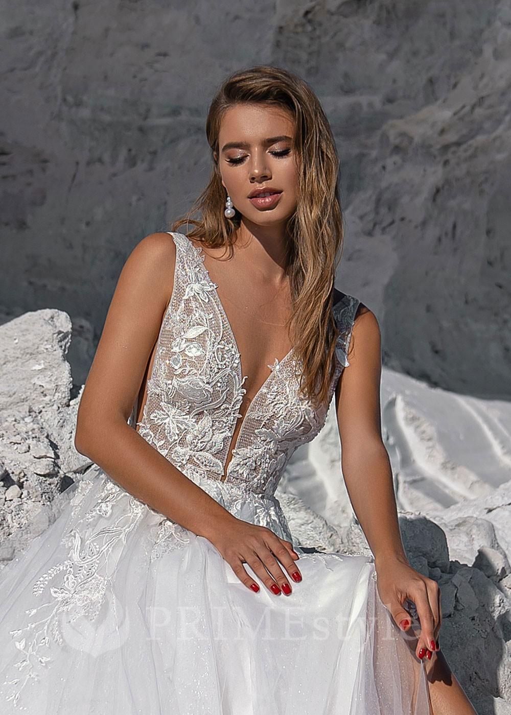Luxusné spoločenské šaty s 3D kvetmi SPL-1306