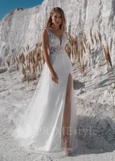 Exkluzívne krajkové spoločenské šaty SPL-1320