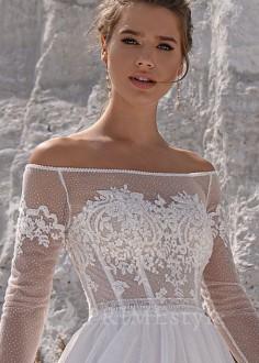Luxusné celokrajkové spoločenské šaty SPL-1322