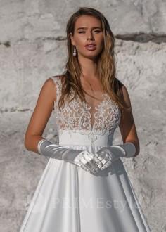 Extravagantné celokrajkové spoločenské šaty SPL-1329