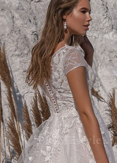 Svadobné šaty s dlhým rukávom Anita
