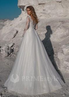 Luxusné celokrajkové svadobné šaty Bella