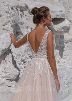Originálne farebné svadobné šaty Elisa
