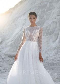 Luxusné čipkované svadobné šaty Doloris