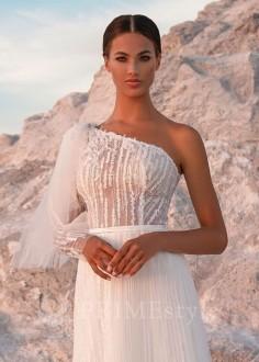 Romantické čipkované svadobné šaty Ilara