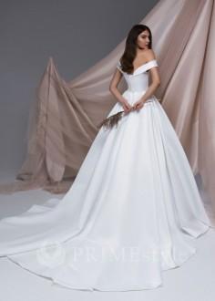 Dvojdielne svadobné šaty Alva s holým chrbrom