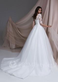Trendové svadobné šaty Diana s ramienkami