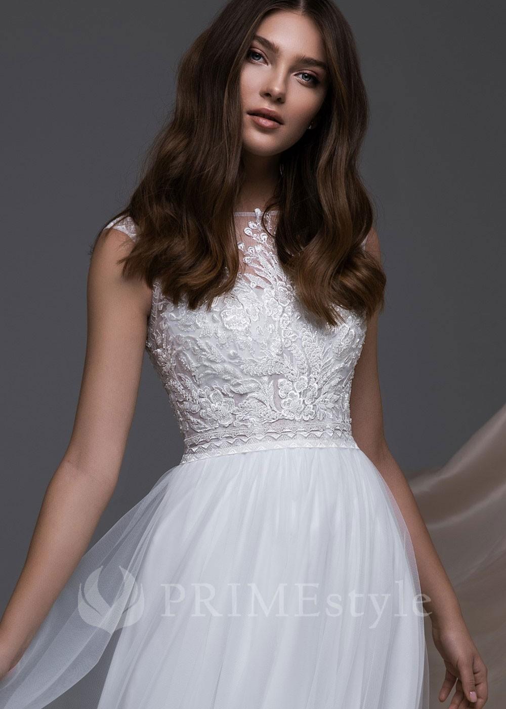 3a2928322 Znížená cena. Čipkované svadobné šaty Ilana