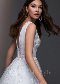 Originálne dvojdielne svadobné šaty Sanna