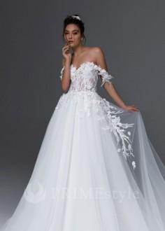 Exkluzívne čipkované svadobné šaty Alex