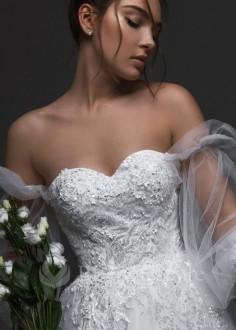 Elegantné čipkované svadobné šaty Debora