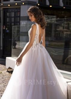 Jednoduché svadobné šaty s dlhým rukávom Ingrid