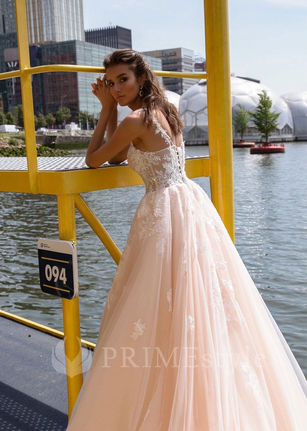 85c05806469c Čipkované svadobné šaty s dlhým rukávom Dorothy - lamode.sk