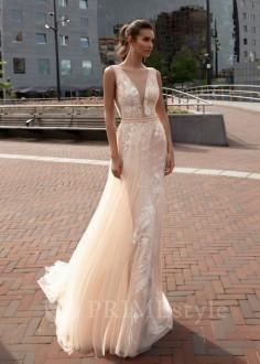 Luxusné čipkované svadobné šaty Paula