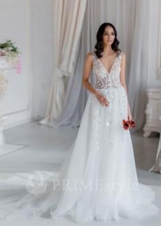 f14527da4637 Exkluzívne dvojdielne svadobné šaty s ramienkami od značky InesGeorg®