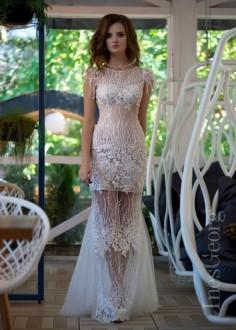Luxusné krajkové spoločenské šaty SPL1507