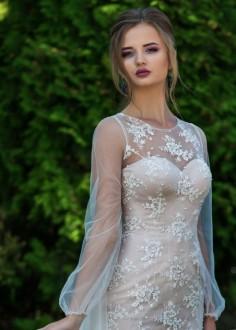 Exkluzívne čipkované spoločenské šaty SPL1520