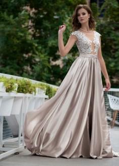 Exkluzívne čipkované spoločenské šaty SPL1541